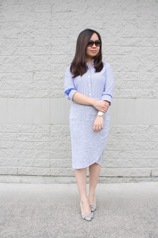 Shirt: Banana Republic | Shoes: Nine West | Watch: Agnes B | Sunglasses: D & G